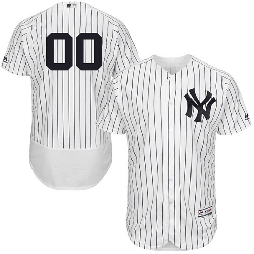 Men's Majestic New York Yankees Customized White Home Flex Base Authentic Collection MLB Jersey