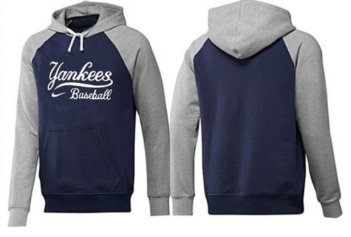 MLB Men's Nike New York Yankees Pullover Hoodie - Navy/Grey