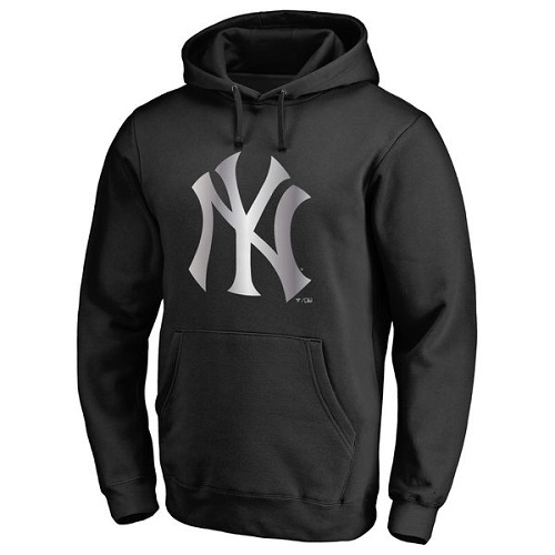 MLB New York Yankees Platinum Collection Pullover Hoodie - Black