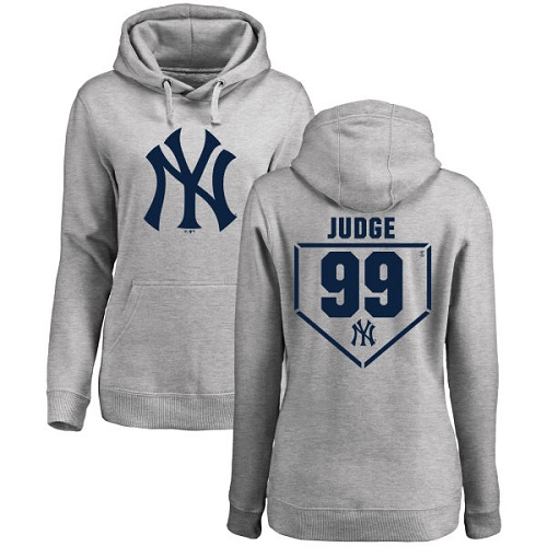 MLB Women's Nike New York Yankees #99 Aaron Judge Gray RBI Pullover Hoodie