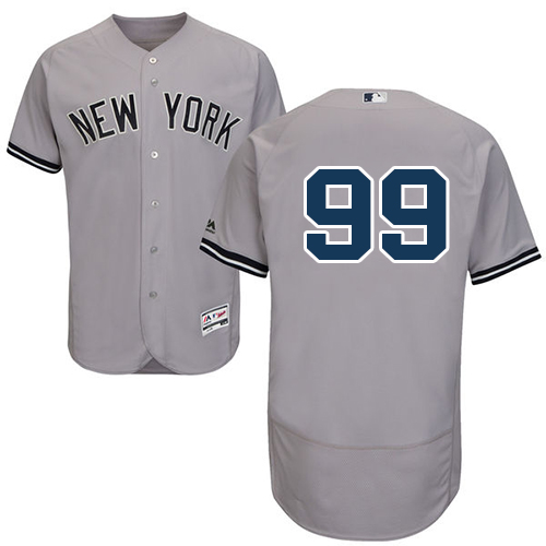 Men's Majestic New York Yankees #99 Aaron Judge Grey Flexbase Authentic Collection MLB Jersey