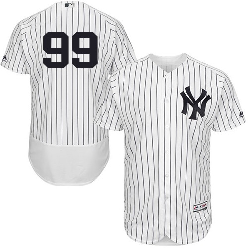 Men's Majestic New York Yankees #99 Aaron Judge White/Navy Flexbase Authentic Collection MLB Jersey