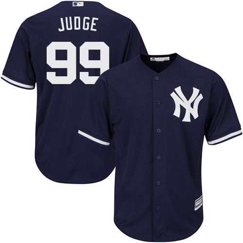 Youth Majestic New York Yankees #99 Aaron Judge Authentic Navy Blue Alternate MLB Jersey