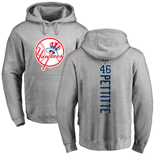 MLB Nike New York Yankees #46 Andy Pettitte Ash Backer Pullover Hoodie