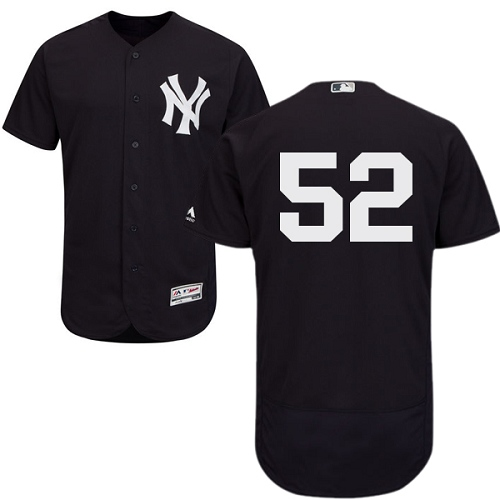 Men's Majestic New York Yankees #52 C.C. Sabathia Navy Blue Alternate Flex Base Authentic Collection MLB Jersey
