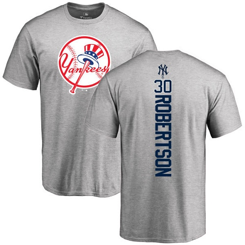 MLB Nike New York Yankees #30 David Robertson Ash Backer T-Shirt