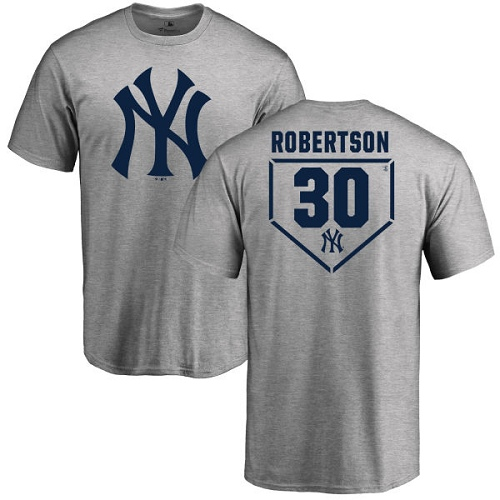 MLB Nike New York Yankees #30 David Robertson Gray RBI T-Shirt