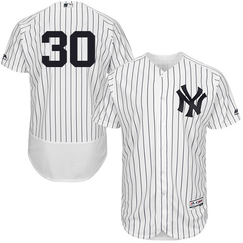 Men's Majestic New York Yankees #30 David Robertson White/Navy Flexbase Authentic Collection MLB Jersey