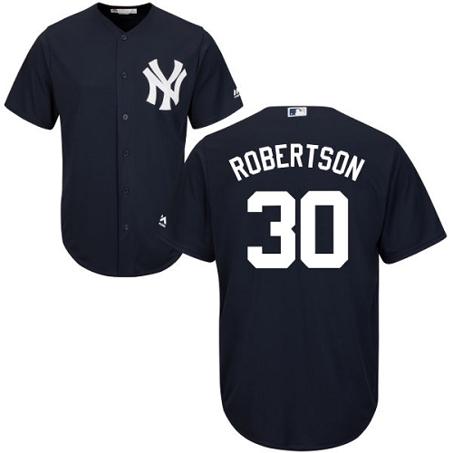 Youth Majestic New York Yankees #30 David Robertson Authentic Navy Blue Alternate MLB Jersey