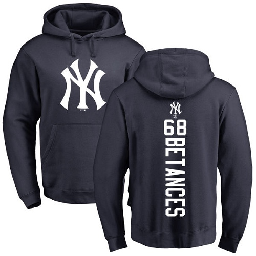MLB Nike New York Yankees #68 Dellin Betances Navy Blue Backer Pullover Hoodie