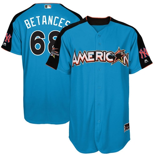 Men's Majestic New York Yankees #68 Dellin Betances Replica Blue American League 2017 MLB All-Star MLB Jersey