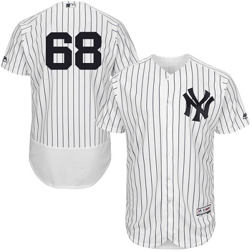 Men's Majestic New York Yankees #68 Dellin Betances White Home Flex Base Authentic Collection MLB Jersey