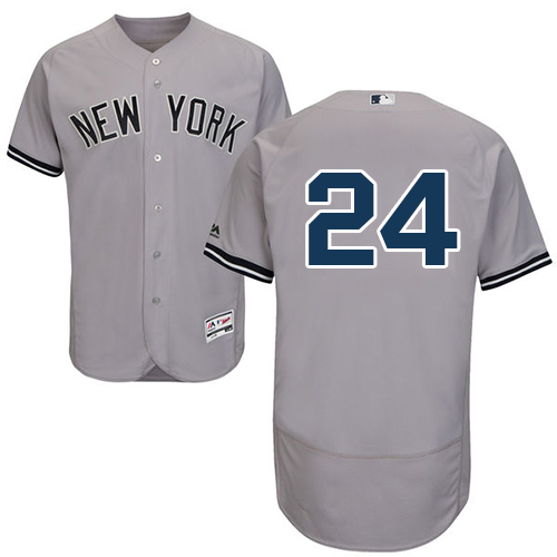 Men's Majestic New York Yankees #24 Gary Sanchez Grey Road Flexbase Authentic Collection MLB Jersey