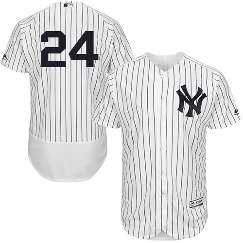 Men's Majestic New York Yankees #24 Gary Sanchez White Home Flexbase Authentic Collection MLB Jersey