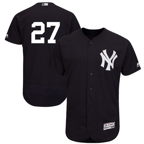 Men's Majestic New York Yankees #27 Giancarlo Stanton Navy Blue Flexbase Authentic Collection MLB Jersey