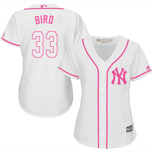 Women's Majestic New York Yankees #33 Greg Bird Authentic White Fashion Cool Base MLB Jersey