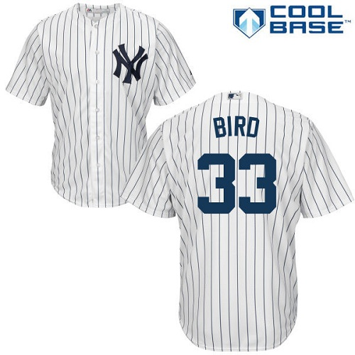 Youth Majestic New York Yankees #33 Greg Bird Authentic White Home MLB Jersey
