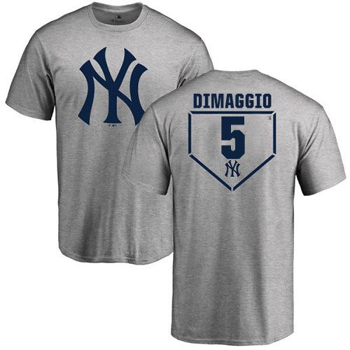 MLB Nike New York Yankees #5 Joe DiMaggio Gray RBI T-Shirt