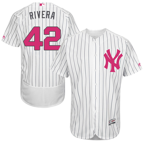Men's Majestic New York Yankees #42 Mariano Rivera Authentic White 2016 Mother's Day Fashion Flex Base MLB Jersey