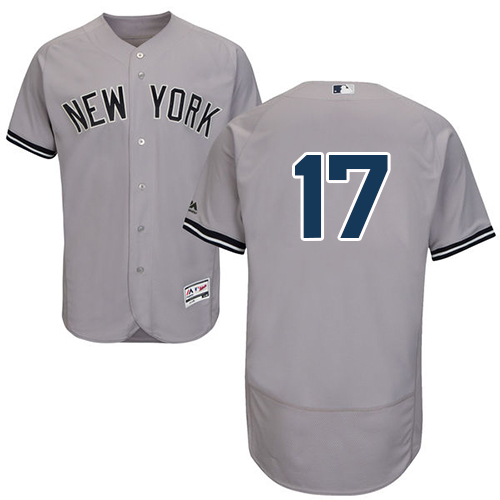 Men's Majestic New York Yankees #17 Matt Holliday Grey Flexbase Authentic Collection MLB Jersey