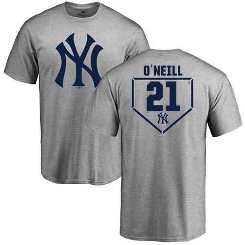 MLB Nike New York Yankees #21 Paul O'Neill Gray RBI T-Shirt