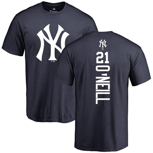 MLB Nike New York Yankees #21 Paul O'Neill Navy Blue Backer T-Shirt