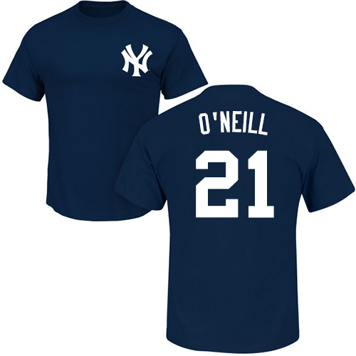 MLB Nike New York Yankees #21 Paul O'Neill Navy Blue Name & Number T-Shirt