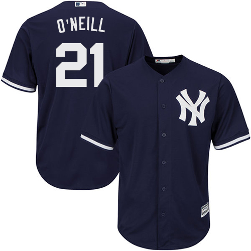 Men's Majestic New York Yankees #21 Paul O'Neill Replica Navy Blue Alternate MLB Jersey
