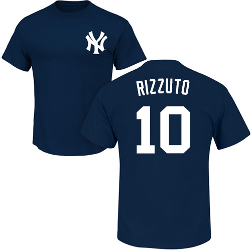 MLB Nike New York Yankees #10 Phil Rizzuto Navy Blue Name & Number T-Shirt