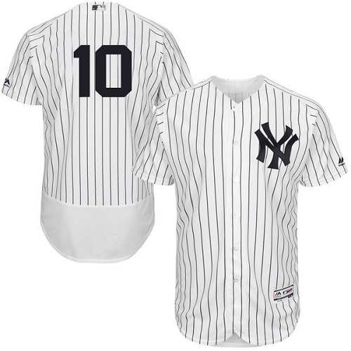 Men's Majestic New York Yankees #10 Phil Rizzuto White Home Flex Base Authentic Collection MLB Jersey