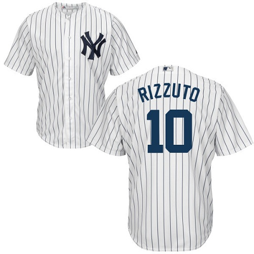 Youth Majestic New York Yankees #10 Phil Rizzuto Authentic White Home MLB Jersey