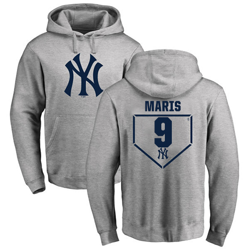 MLB Nike New York Yankees #9 Roger Maris Gray RBI Pullover Hoodie