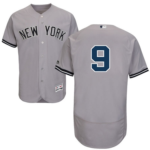 Men's Majestic New York Yankees #9 Roger Maris Grey Road Flex Base Authentic Collection MLB Jersey