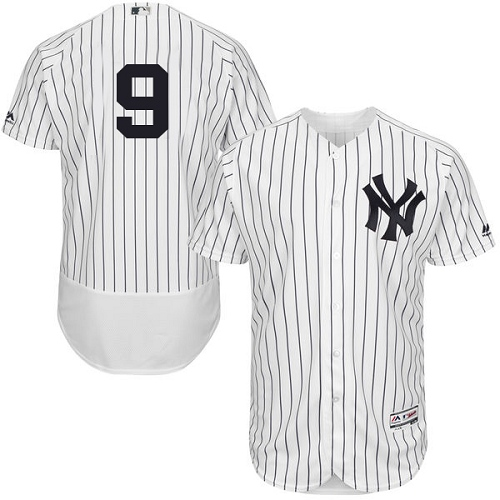 Men's Majestic New York Yankees #9 Roger Maris White Home Flex Base Authentic Collection MLB Jersey